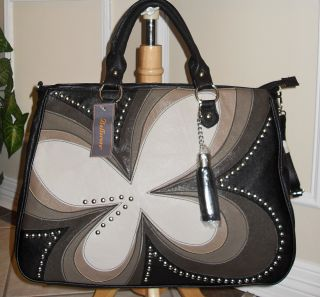 New Quality Bellerose large Floral Carry all Tote Bag   Blacks