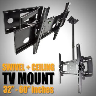 Tilt TV Wall Mount Ceiling Swivel 32 37 42 46 50 52 60 LCD LED Plasma