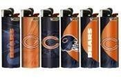 SIZE SET CHICAGO BEARS NFL FOOTBALL BIC LIGHTERS cigarette cutler G67b