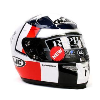 Motorcycle Helmet HJC R PHA10 Ben Spies Replica MC1 XLarge