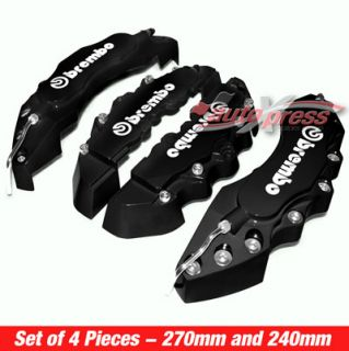 Black Brembo Style Brake Caliper Covers Set Free Glue