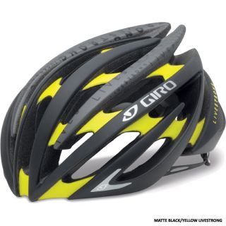 Giro Aeon Road Race Bicycle Helmets Black Yellow Livestrong Large LG