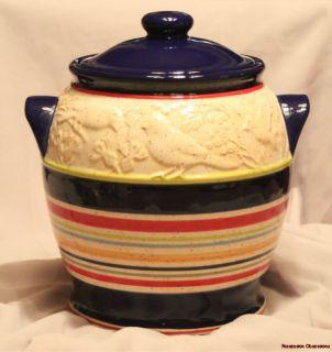 Pfaltzgraff Sedona Bird Seed Crock Cookie Jar Canister