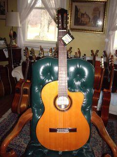 CE CD Classical Nylon String Electric Cutaway Guitar Solid Cedar Top