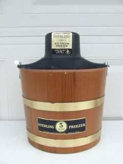 Vintage Sterling Electric 5 qt Ice Cream Freezer Maker PRICE INCLUDES