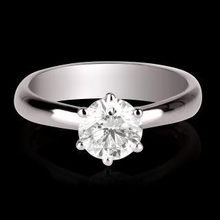 75 ct f si diamond engagement ring white gold 14k
