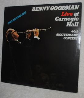 Benny Goodman LP Record Live at Carnegie Hall 40th
