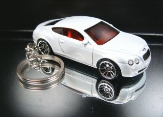 White Bentley Continental Supersports Keychain Key Ring Fob