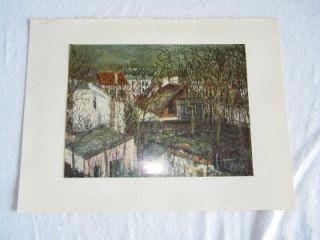 Vintage Maurice Utrillo Plate Thirteen Berlioz House 89
