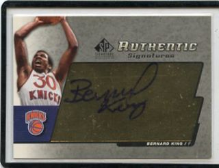 2004 05 SP SIGNATURE EDITION BERNARD KING AUTOGRAPH AUTO   NEW YORK