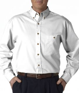 Bill Blass Sanded Gabardine Mens Dress Shirt Long Sleeve White Size