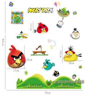 Angry Birds Reusable Wall Stickers Kids Nursery Boys Children Room