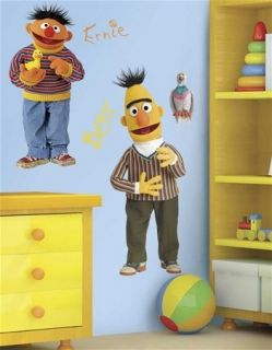 Sesame Street Bert Ernie Giant Peel Stick Wall Decal