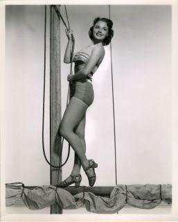 1950 Virginia Gibson Bathing Beauty Bert Six Stamped Photograph Pin Up