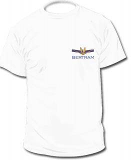 Bertram Yachts T Shirt Logo T Shirts 2 Styles Sizes s XXL