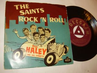 BILL HALEY COMETS The Saints Rock n Roll SWEDEN EP 1956 UNIQUE PS Tri