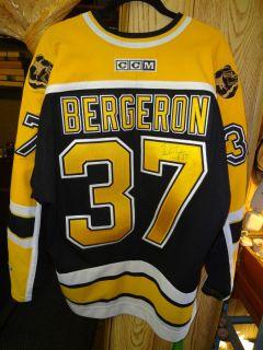 Patrice Bergeron 37 Boston Bruins NHL Hockey Jersey Signed Autograph