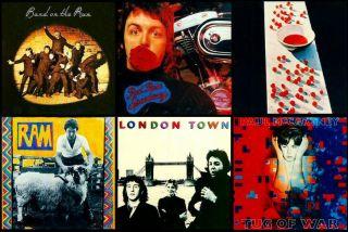 Beatles Paul McCartney Album Covers Coasters Set of 6