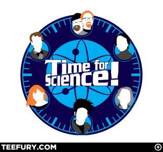 OOP TeeFury Time for Science Carl Sagan Bill Nye Mythbusters Beakman