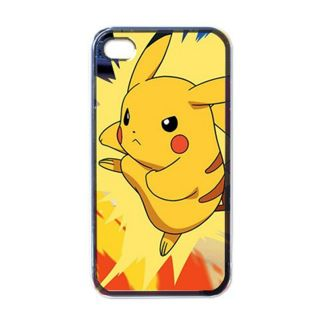 Apple iPhone 4 4S Case Black Pikachu Edition 5 Hard Cover