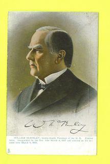 President William McKinley Postcard 24th President Tuck