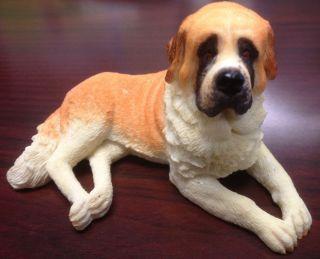 SAINT BERNARD COLLECTIBLE POLY RESIN STATUE FIGURINE PET DOG DOGGY ST