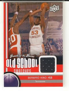 2010 UD Greats Bernard King Tennessee Relic Card