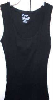 Ribbed Cotton Tank Tops Shirts Size s M L Zoey Beth Four Colors