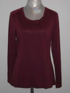 Ibex CLARITY Long Sleeve Top Merino Wool Womens Berri Purple NWT
