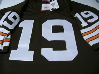 Browns Throwback Jersey Bernie Kosar Size 40 Med New $275 Sewn