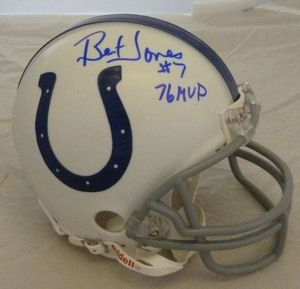 Bert Jones Autographed Signed Baltimore Colts Mini Helmet w 76 MVP