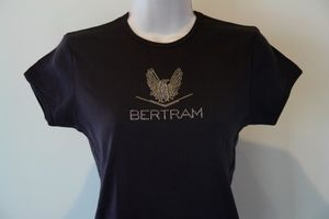 Bertram Yacht Sport Fishing Boat Bella Rhinestone Super Cute T Shirt