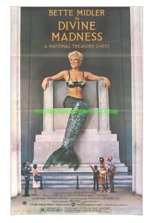 Divine Madness Movie Poster 2 Styles Bette Midler 1980