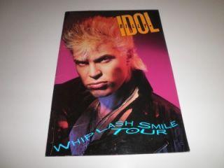 vintage billy idol whiplash smile tour program 1986