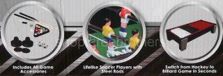 New 3 in 1 Multi Table Top Game Gift Set Air Hockey Foosball & Pool
