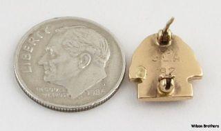 Phi Sigma Sigma Sorority Badge   10k Yellow Gold Vintage Sphinx Syn
