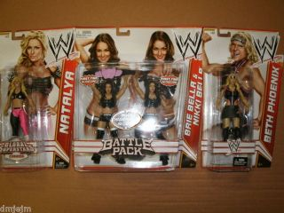WWE Diva Lot Bella Twins Natalya Beth Phoenix Figure