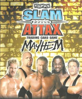 Topps WWE Slam Attax Mayhem SmackDown Trading Card See Cards Available