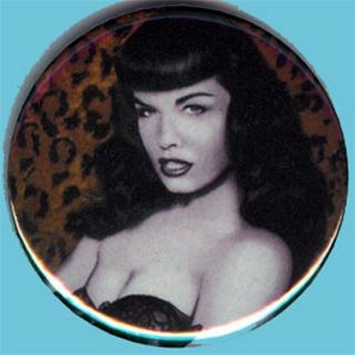 Bettie Page 1 Pin Button Badge Magnet 1957 USA Fetish Pin Up Sexy