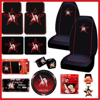 Betty Boop 12pc Car Seat Covers Accessories Set