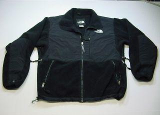 Face Camping Hiking Fleece Vented Sides Jacket Sz Mens M Black