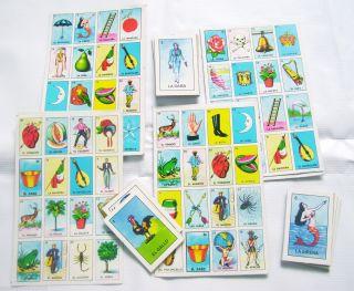 mexican la loteria bingo game 9 boards and 54 cards deck no Gallo Don