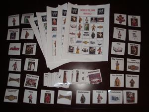 WWE Wrestlemania Party Bingo Boards Cards Emailed Fast