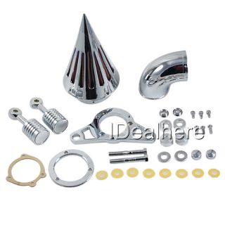 Air Cleaner Kit for Harley Harley Cross Bones Softail 2008 2009 Silver