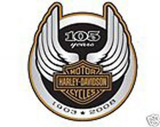 harley davidson 105th anniversary logo decal  14