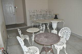 Vintage Cast Iron Outdoor Furniture | Tile Flooring Idea