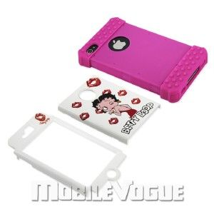 betty boop hard cover case for apple iphone 4 4s at t verizon hot pink