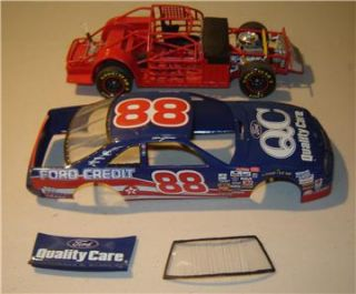 Slot Car Body 1/24 1/25 Correct QUALITY CARE FORD T BIRD Nascar