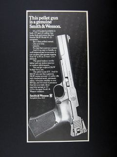 Smith & Wesson CO2 Pellet Gun Pistol 1972 print Ad advertisement