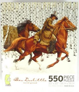 Bev Doolittle Sacred Ground 550 Pc Jigsaw Puzzle Western Horse Art